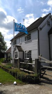 NHS Flag outside House